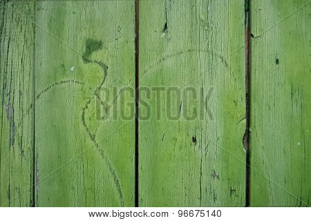 Wooden Surface With Scratches,