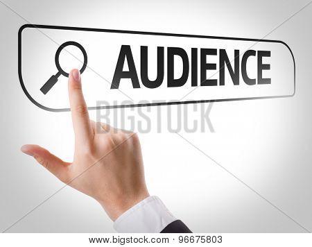Audience written in search bar on virtual screen