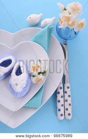 Its A Boy Baby Shower Table Place Setting