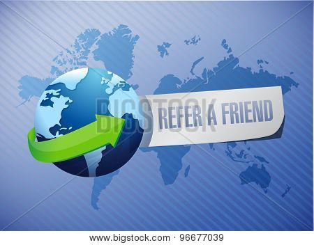 Refer A Friend International Sign Concept