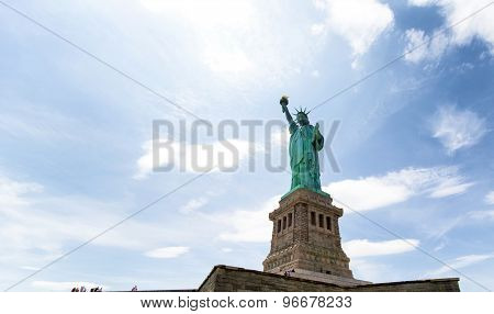 Low Angle View Of A Statue, Statue Of Liberty, Liberty Island, New York City, Usa