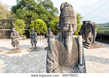 HUE, VIETNAM - MARCH 21, 2015: Tomb Of Khai Dinh Emperor In Hue, March 21, 2015