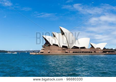 Sydney, Australia - March 22, 2015: Side View Of Sydney's Most Famous Landmark, Sydney Opera House.