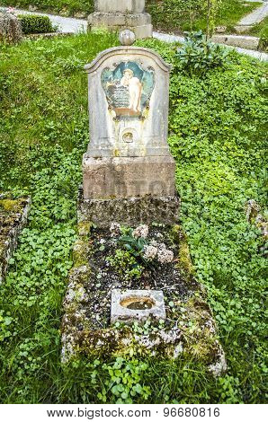 Petersfriedhof Cemetery And Catacombs At St Peters Abbey Catholic Church In Salzburg