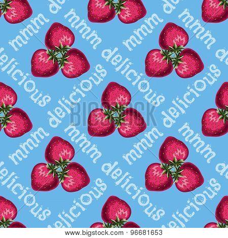 Strawberries Seamless Pattern