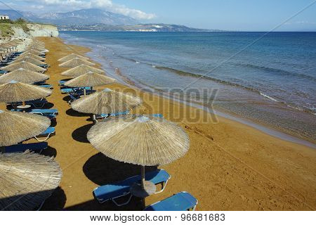 amazing view of Xi Beach,  beach with red sand in Kefalonia