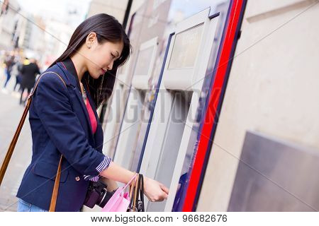 withdrawing cash