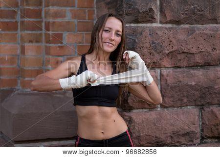 Friendly Smiling Female Boxer