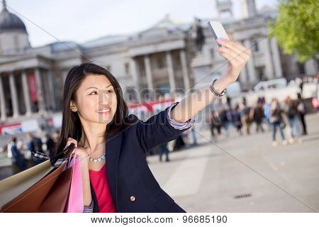 tourist taking a selfie