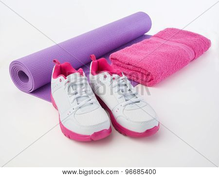 Fitness Shoes And Towel