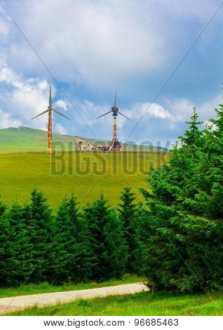 First Wind Turbines In Romania