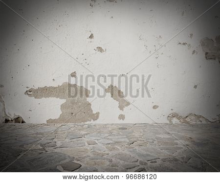 Grey deteriorated background