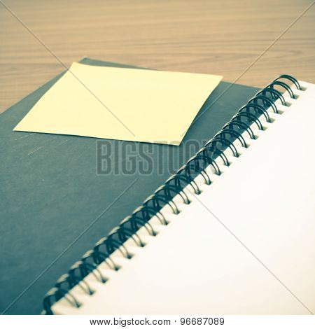Open Notebook With note