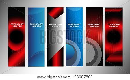 Big set of banner vertical