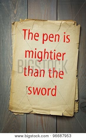 English proverb: The pen is mightier than the sword. 50 most important English proverbs series