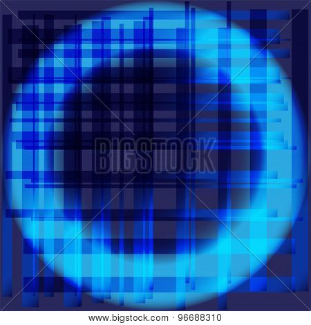 Blue abstract circle grid background