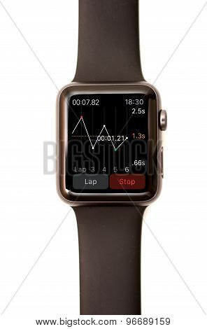 Apple Watch Stop Watch App