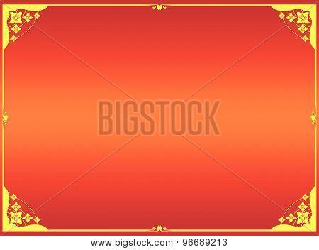 Yellow Frame Vector Design