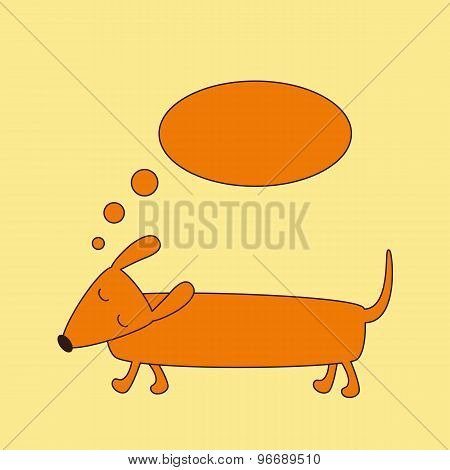 Dachshund With Dream Bubble