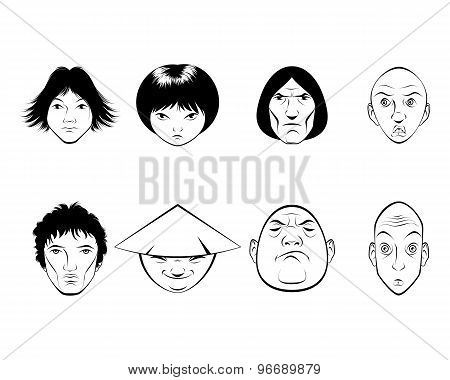 Set Of Eight Persons