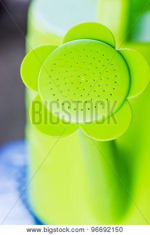 Closeup Green Watering Can