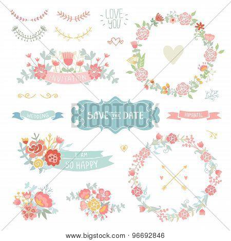 Floral vintage set