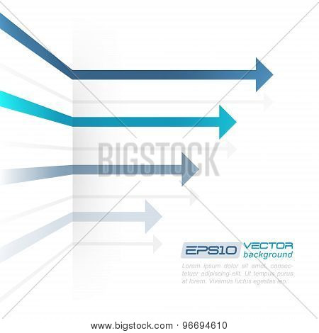 Vector abstract background with arrows