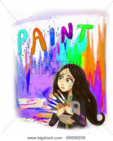 painter girl