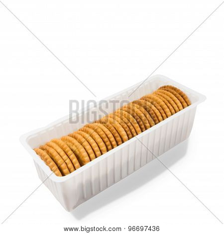 Cracker Cookies Isolated On White Background