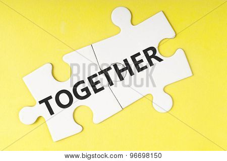 Together  Word On Jigsaw Puzzle
