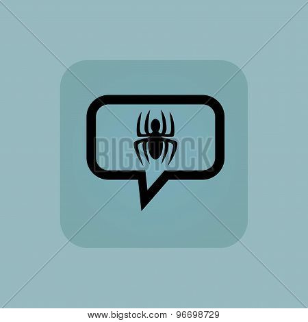 Pale blue spider message icon