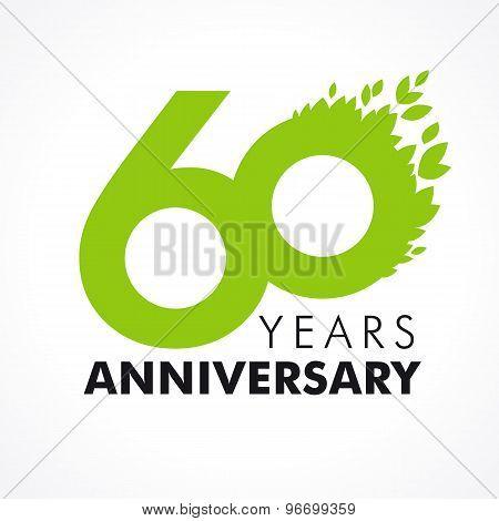 60 anniversary leaves logo