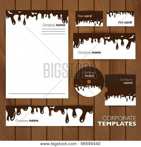 Corporate identity template. Business set design