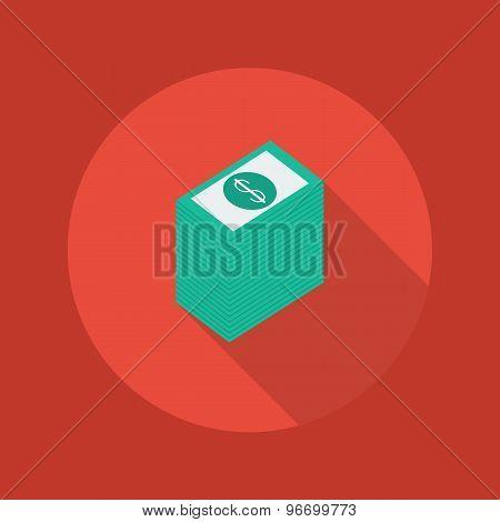 Business Flat Icon. Money