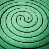 pic of mosquito repellent  - Close up mosquito repellent coils are stacked - JPG