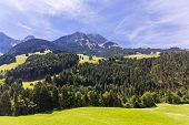 pic of saanen  - View on the Alps during summer Switzerland - JPG