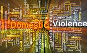 pic of dowry  - Background concept wordcloud illustration of domestic violence glowing light - JPG