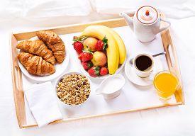image of continental food  - Breakfast in bed - JPG
