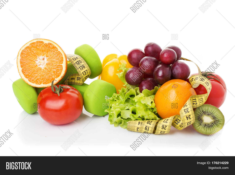 Fitness equipment healthy food image photo bigstock