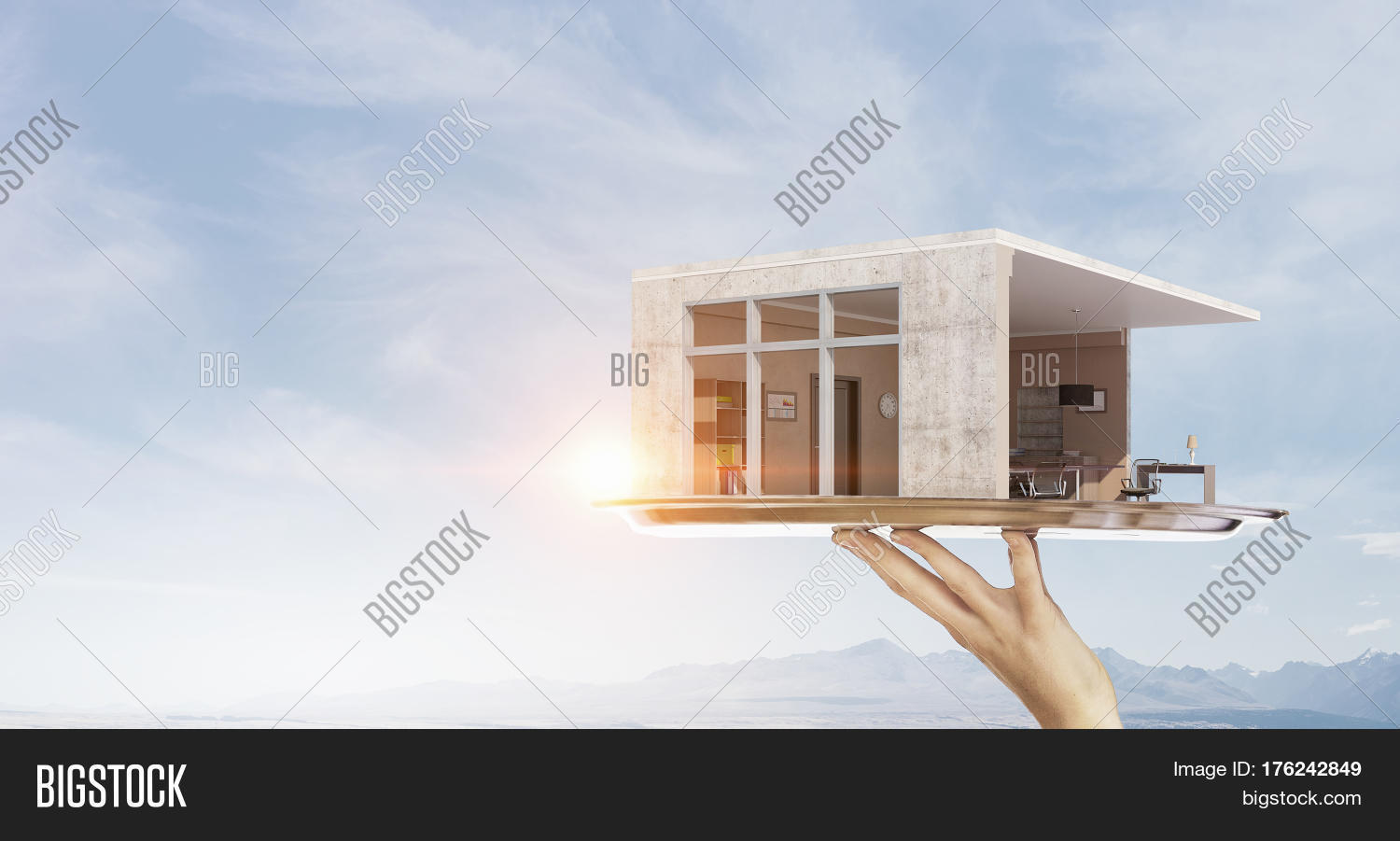 Your dream house design mixed media stock photo stock images bigstock - Your dream home plans afford ...