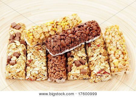 various granola bars - diet and breakfast