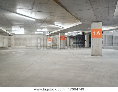 Empty parking lot area