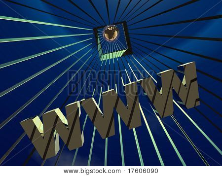 3d World Wide Web internet symbol and globe