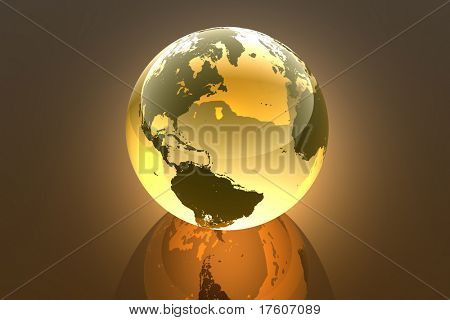 Earth, abstract 3d illustration