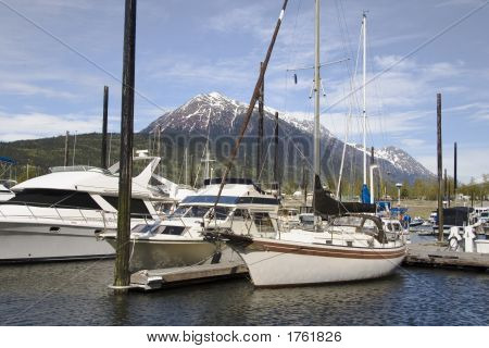 Docks And Boats In Skagway Alaska