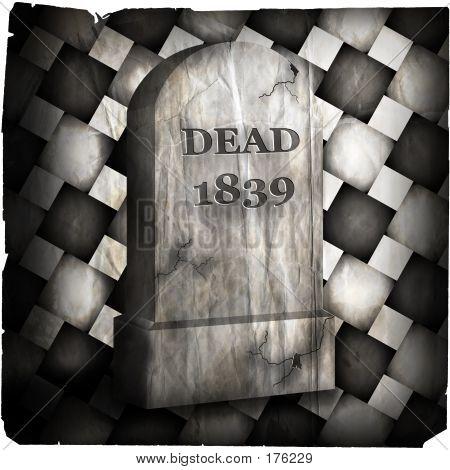 Halloween Tombstone Degraded