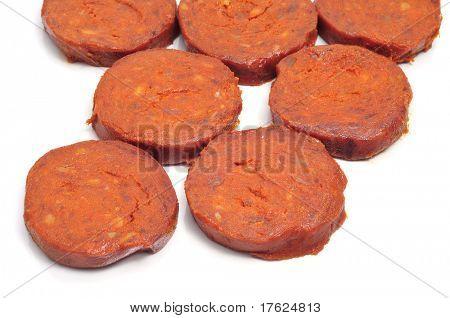 a few slices of sobrasada, a typical mallorca sausage
