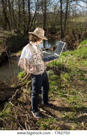 Man With Portable Computer