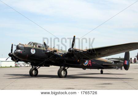 Vintage Lancaster Bomber On Runway 2