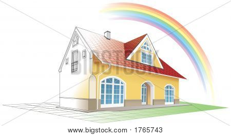 Dream Home Coming True And Colorful, Rainbow